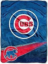 CHICAGO CUBS MLB ROYAL PLUSH RASCHEL BLANKET SPEED SERIES 60IN X 80IN