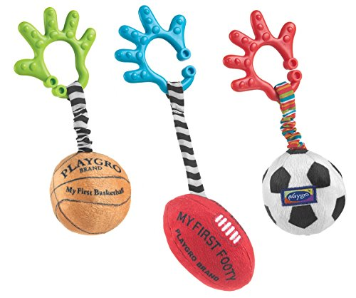 Playgro Baby Sports Balls, Set of 3 - 1