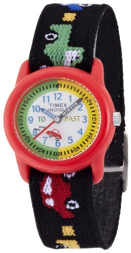 Timex Kids' T71122 Time Teacher Cars And Trucks Stretch Band Watch front-687804