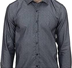 UNIXX Men's Casual Shirt (UXXS-14_Denim Grey_42)