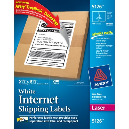 Buy avery internet shipping labels for laser printers with for How to purchase a shipping label