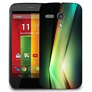 Snoogg Multicolor V Shape Design Designer Protective Phone Back Case Cover For Motorola G / Moto G