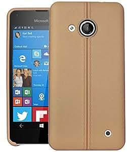 Lumia 550 Case, DEFENDER Series Back Case Cover For Microsoft Lumia 550 (Gold)