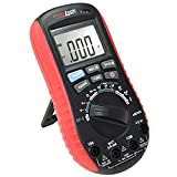 Digital Multimeter with Battery Tester - Accurate Fast Auto Ranging DMM for AC/DC Voltage and Current, Resistance, Continuity, Battery Load Test, Diode, Non-Contact AC Power Detect - ennologic eM530S