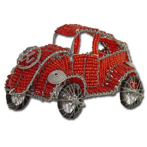 Wire art beetle, red