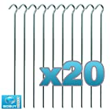 """20 TENT PEGS """"HEAVY DUTY"""" GALVANISED AWNING GARDEN POND NETTING CAMPING 9"""""""