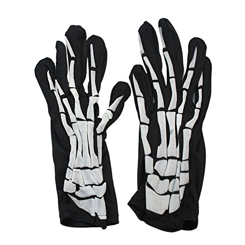Kids Adults Skeleton Bone Skull Gloves Costume Ball Party Halloween Accessory