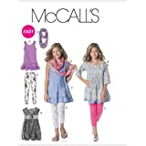 McCall's Patterns M6275 Girls'/Girls' Plus Dresses, Scarf and Leggings, Size GIRL [(7-8) (10-12) (14)]