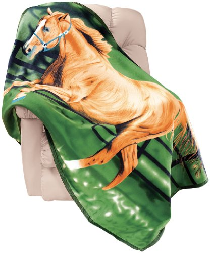 Horse Fleece Throw Blanket By Miles Kimball front-586553