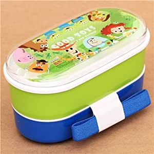 green blue toy story bento box lunch box disney pixar toys games. Black Bedroom Furniture Sets. Home Design Ideas