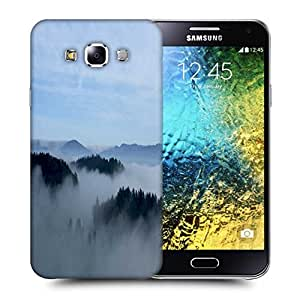 Snoogg Smoky Fog Printed Protective Phone Back Case Cover ForSamsung Galaxy E5
