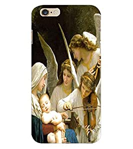Fuson 3D Printed Lord Mother Merry with Jesus Designer Back Case Cover for Apple iPhone 6 Plus - D540