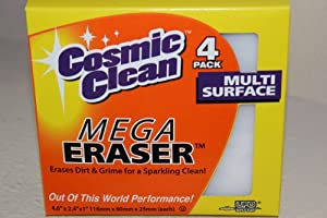 Cosmic Clean Mega Eraser- 4 Pack
