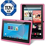 "Chromo Inc 7"" Tablet Google Android 4.4 with Touchscreen, Camera, 1024x600 Resolution, Netflix, Skype, 3D Game Supported - Pink"