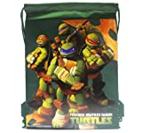 Ninja Turtles Green Drawstring Bags