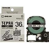 キングジム テープカートリッジ テプラPRO 強粘着 36mm SS36KW 白