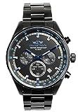 [シャルルホーゲル]Charles Vogele 腕時計 ウォッチ クロノグラフ ビジネス カジュアル 10気圧防水 ブラック メンズ [並行輸入品]