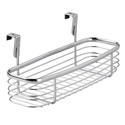 InterDesign Axis Over the Cabinet Kitchen Storage Organizer Tray for Sponges, Scrubbers, Brushes - Chrome (Over The Sink Tray compare prices)