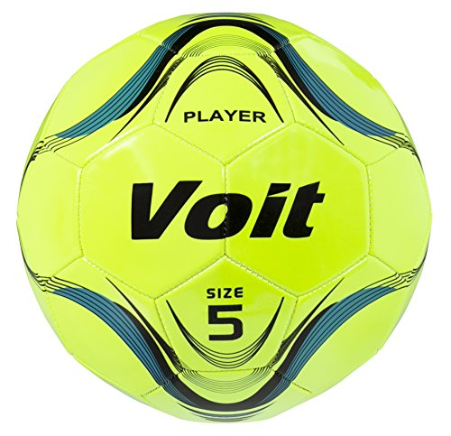 Voit Size 5 Player Deflated Soccer Ball, Neon Yellow - 1