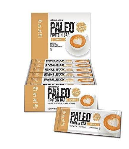 Paleo-Protein-Bar-Espresso-12-Bars-20g-Egg-White-Protein-2-Net-Carbs-w100mg-Organic-Caffeine
