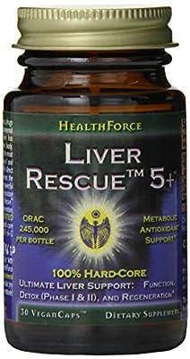Healthforce Liver Rescue 5+, Vegancaps, 30-Count