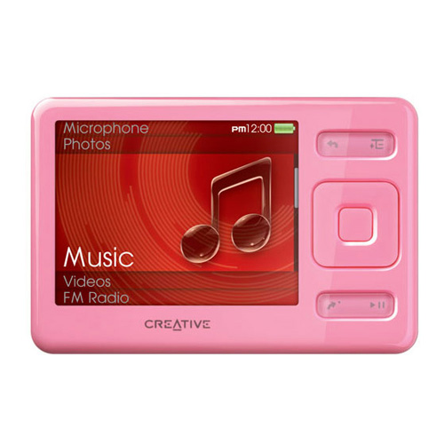 creative zen pink 2 gb digital media video fm radio mp3 player 70pf216300dd3 mnt 54651157194 ebay. Black Bedroom Furniture Sets. Home Design Ideas