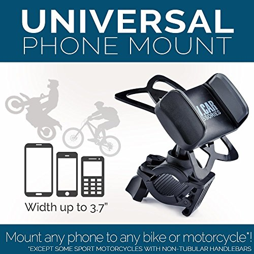 Bike-Motorcycle-Cell-Phone-Mount-For-iPhone-6-5-6s-Plus-Samsung-Galaxy-Note-or-any-Smartphone-GPS-Universal-Mountain-Road-Bicycle-Handlebar-Cradle-Holder-100-to-Safeness-Comfort