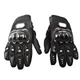 Docooler1 Pair Ergonomic Design Anti Slip 3D Hard Shell Protective Gear Motorcycle Sport Racing Bike Bicycle Riding Cycling Gloves (Black, M)