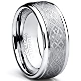 8MM Men's Tungsten Carbide Ring with Celtic Design, Size 11 ~ Metal Masters Co.