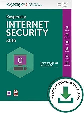 Kaspersky Internet Security 2016 1 User [Download]