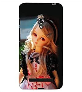 PrintDhaba Cute Doll D-1111 Back Case Cover for ASUS ZENFONE 5 A501CG (Multi-Coloured)