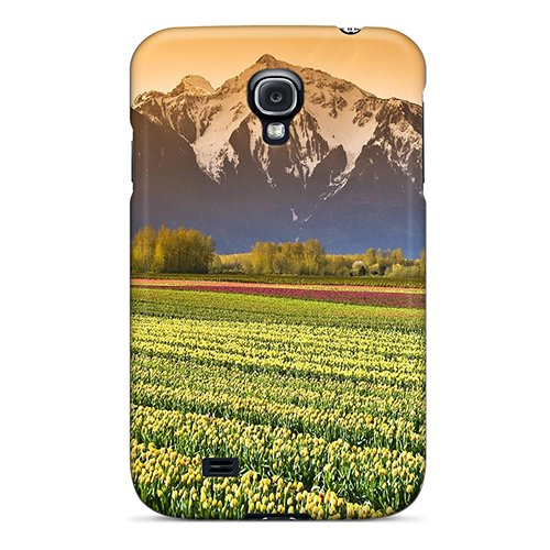 For Galaxy Case, High Quality Tulip Fields British Columbia For Galaxy S4 Cover Cases back-1055704