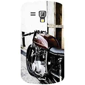 Samsung Galaxy S Duos 7582 Racing Bike Matte Finish Phone Cover - Matte Finish Phone Cover