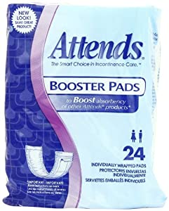 Attends Booster Pads, 24-Count (Pack of 8) from Attends
