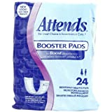 Attends Booster Pads, 24-Count (Pack of 8) ~ Attends