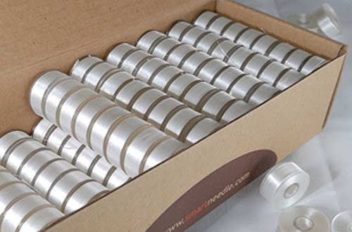 144 White Embroidery Bobbins Type