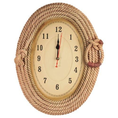 Big Western Lariat Rope Clock Southwest Decor - Classic Style