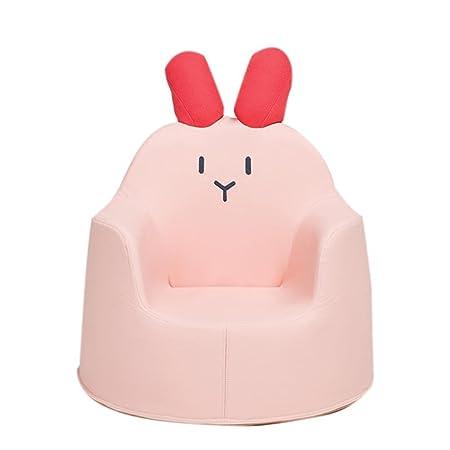 XXFFH® Kinder Lazy Sofa, Kunstleder Lovely Schwamm Hocker, Geeignet fur Kinder im Alter von 1-8 Jahren , pink