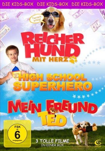 Die Kids-Box - Boxset mit 3 tollen Kinderfilmen (Reicher Hund mit Herz, High School Superhero, Mein Freund Ted) [3 DVDs]