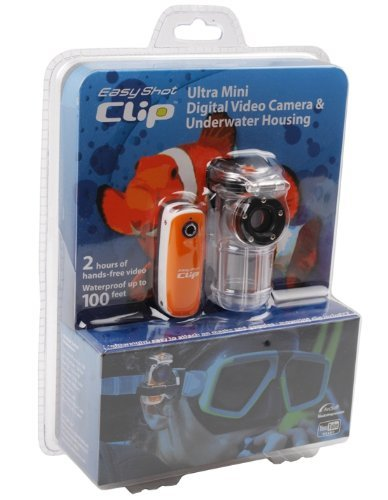 Easy Shot Clip Ultra Mini Digital HD Video Camera  &  Waterproof Housing with Extra Mounts