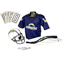 Franklin Sports NFL San Diego Chargers Deluxe Youth Uniform Set Small