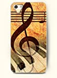OOFIT Phone Case Design with Music Note and Piano Keyboard for Apple iPhone 5 5s 5g
