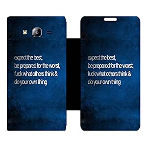 Skintice Designer Flip Cover with hi-res printed Vinyl sticker wrap-around for Samsung Galaxy On7