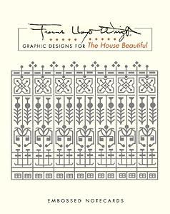 Pomegranate Frank Lloyd Wright/House Beautiful Square Embossed B