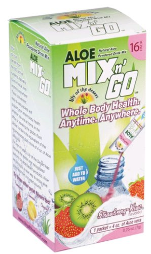Aloe Mix N' Go Strawberry-Kiwi 16 Packets