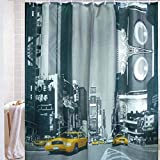 Harbor-Tower shower curtains, waterproof and mildew, The crowded street 72x72(inches)