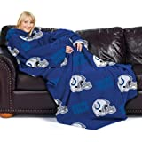 Indianapolis Colts Adult Comfy Throw Blanket with Sleeves