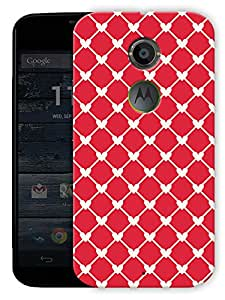 """Connected Hearts Red Printed Designer Mobile Back Cover For """"Motorola Moto X2"""" By Humor Gang (3D, Matte Finish, Premium Quality, Protective Snap On Slim Hard Phone Case, Multi Color)"""