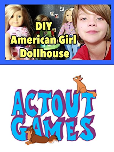 American Girl Dollhouse DIY using bookshelves