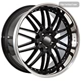 "22"" inch black deep dish wheels rims fit BMW 645 650 M6 745 750 6 7 series"